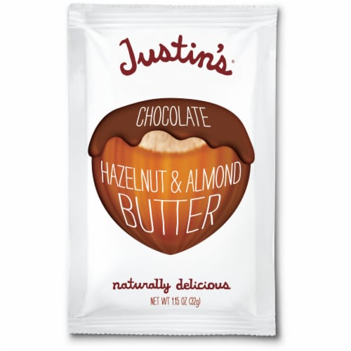 Justin's Chocolate Hazelnut Almond Butter Perspective: front