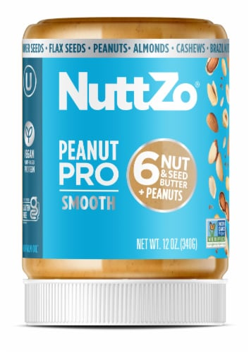 Nuttzo Peanut Pro Smooth Nut & Seed Butter Perspective: front