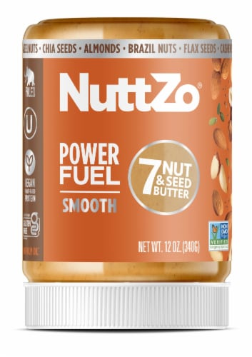 Nuttzo Power Fuel Smooth 7 Nut & Seed Butter Perspective: front
