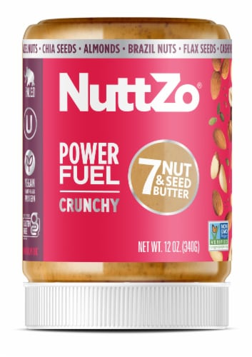 Nuttzo Power Fuel Crunchy Nut & Seed Butter Perspective: front
