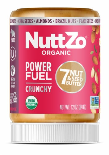 NuttZo Organic Paleo Power Fuel Crunchy 7 Nut & Seed Butter Perspective: front