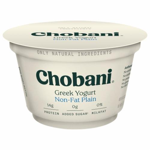 Chobani Original Non-Fat Plain Greek Yogurt Perspective: front