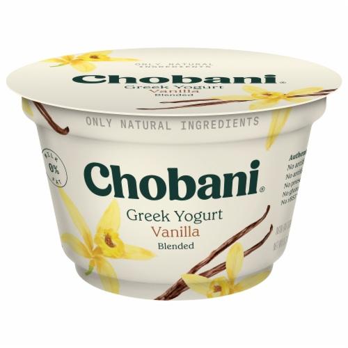 Chobani Vanilla Blended Greek Yogurt Perspective: front