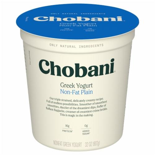 Chobani Original Plain Non-Fat Greek Yogurt Perspective: front