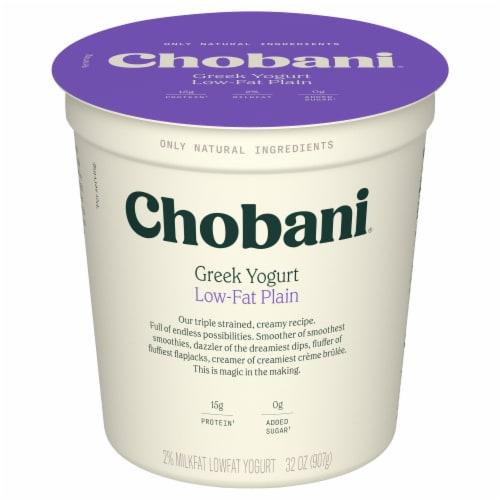 Chobani Low-Fat Plain Greek Yogurt Perspective: front