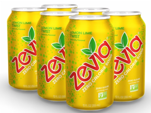 Zevia Diet Lemon Lime Twist Natural Soda Perspective: front