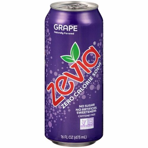 Zevia Grape Zero Calorie Soda Perspective: front