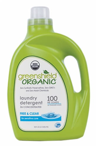 Greenshield Organics Free & Clear Laundry Detergent Perspective: front