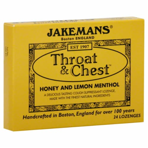 Jakemans Honey Lemon Lozenge Perspective: front