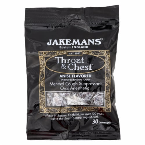 Jakemans Anise Throat & Chest Lozenges Perspective: front