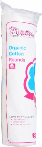 Maxim Hygiene Products  Organic Cotton Rounds Perspective: front