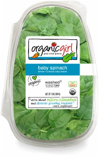 Organicgirl Baby Spinach Perspective: front