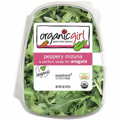 organicgirl Peppery Mizuna Salad Greens Perspective: front