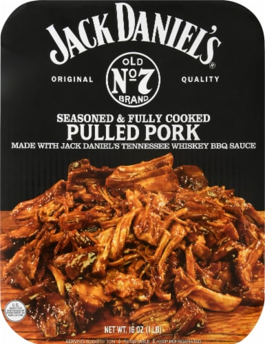 Jack Daniel's Old No 7 Seasoned & Fully Cooked Pulled Pork Perspective: front