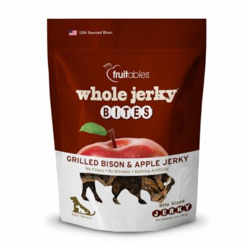 Fruitables® Grilled Bison & Apple Whole Jerky Bites Dog Treats Perspective: front