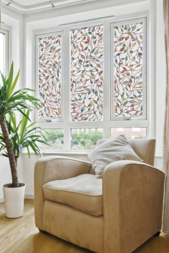 Artscape® New Leaf Window Film - Multi-Color Perspective: front