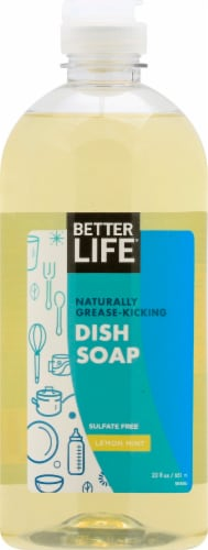 Better Life Lemon Mint Dish Soap Perspective: front