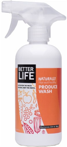 Better Life  Naturally Harvest-Healthy Produce Wash Basil Lemon Perspective: front