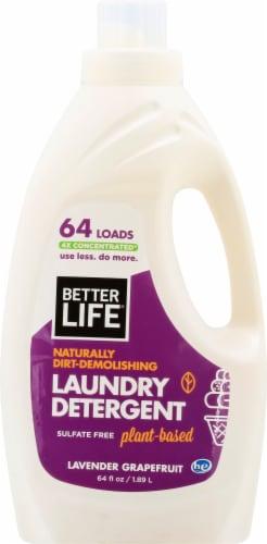 Better Life Lavender Grapefruit Liquid Laundry Detergent Perspective: front