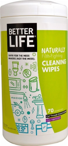 Better Life  Cleaning Wipes Clary Sage & Citrus Perspective: front