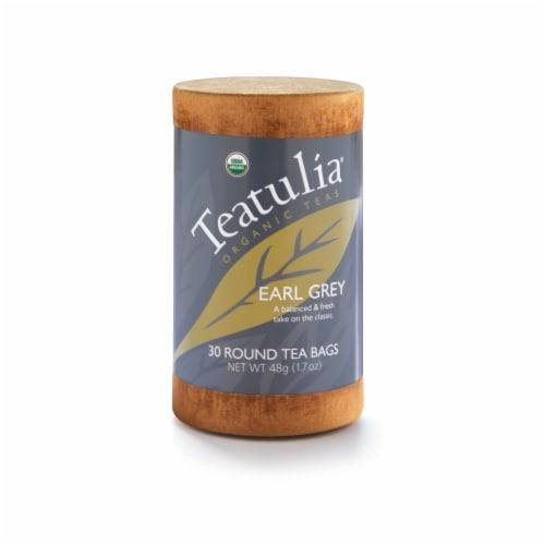 Teatulia Organic Earl Grey Tea Bags 30 Count Perspective: front