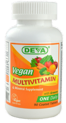 Deva Vegan Multivitamin Tablets Perspective: front
