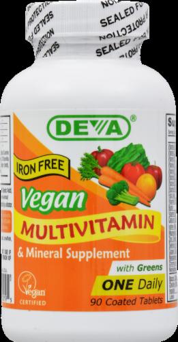 Deva Vegan Vegan Multivitamin Tablets Perspective: front