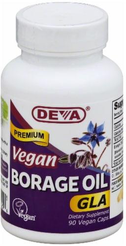 Deva Vegan Vitamins Borage Oil 500mg Vegan Perspective: front