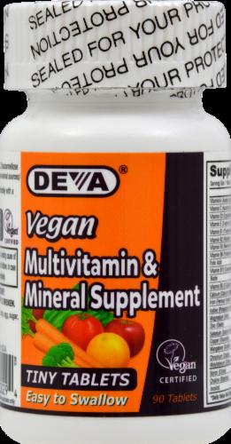 Deva Vegan Multivitamin & Supplement Tiny Tablets Perspective: front