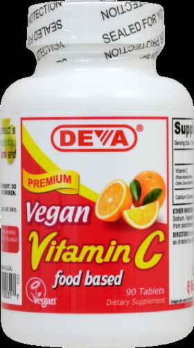 Deva Vegan Vitamin C Dietary Supplement Perspective: front