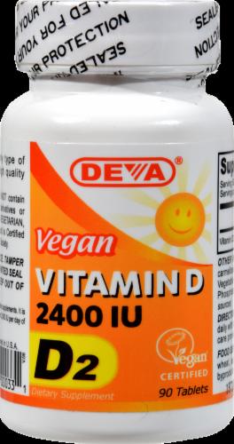 Deva Vitamin D Tablets 2400 IU Perspective: front