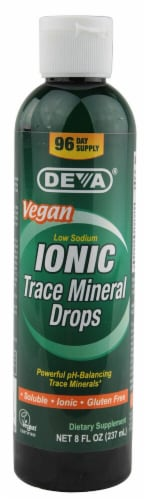 Deva  Ionic Trace Mineral Drops Perspective: front