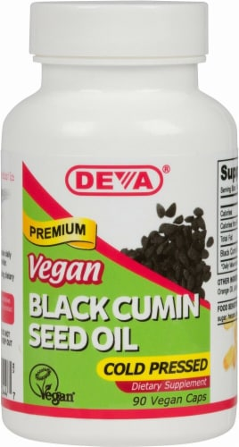Deva  Vegan Black Cumin Seed Oil Perspective: front