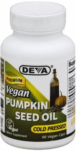 Deva Vegan Pumpkin Seed Oil Cold Pressed Dietary Supplement Perspective: front
