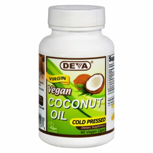 Deva Vegan Coconut Oil Cold Pressed Dietary Supplement Perspective: front