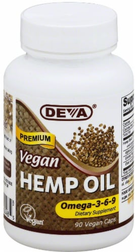 Deva Vegan Hemp Oil Omega 3-6-9 Dietary Supplement Perspective: front