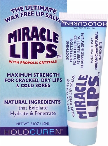 Miracle Lips Salve Perspective: front