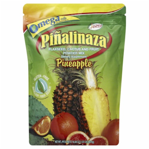 Ibitta Pinalinaza Pineapple Flaxseed Cactus and Fruit Power Mix Perspective: front