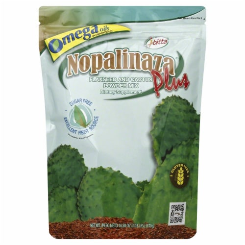 Ibitta Nopalinaza Plus Flaxseen and Cactus Power Mix Perspective: front