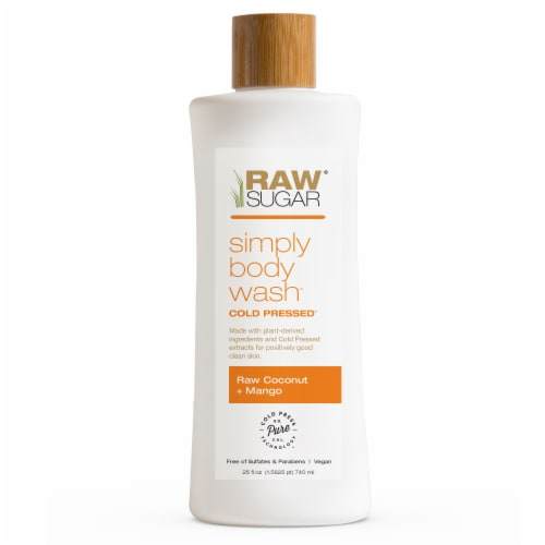 Raw Sugar Living Coconut + Mango Simply Body Wash Perspective: front