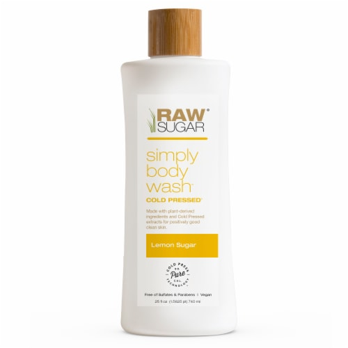 Raw Sugar Living Lemon Sugar Simply Body Wash Perspective: front