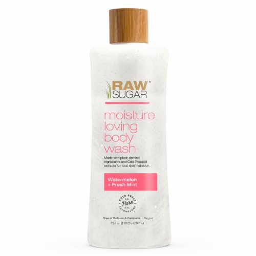 Raw Sugar Living Watermelon + Fresh Mint Moisture Loving Body Wash Perspective: front