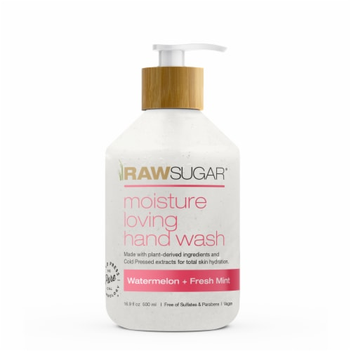 Raw Sugar Watermelon + Fresh Mint Hydrating Hand Wash Perspective: front