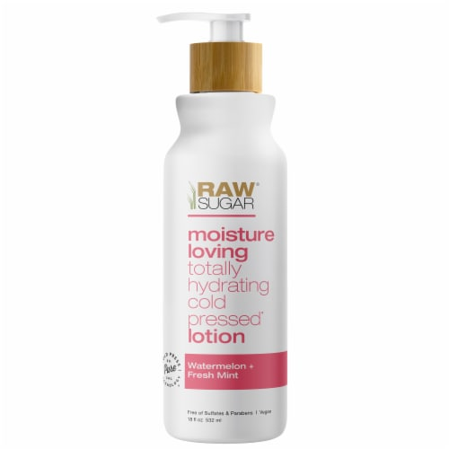 Raw Sugar Moisture Loving Watermelon + Fresh Mint Hydrating Body Lotion Perspective: front