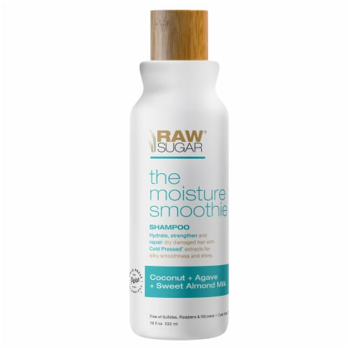 Raw Sugar The Moisture Smoothie Coconut + Agave + Sweet Almond Milk Shampoo Perspective: front