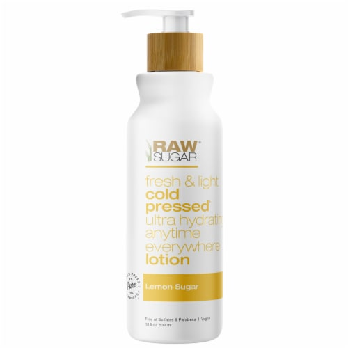 Raw Sugar Living Lemon Body Lotion Perspective: front