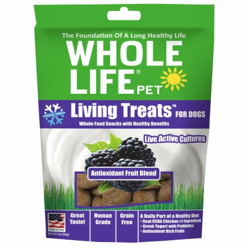 Whole Life Pet  Living Treats™ for Dogs   Antioxidant Fruit Blend Perspective: front