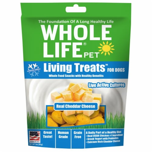 Whole Life Pet  Living Treats™ for Dogs   Real Cheddar Cheese Perspective: front