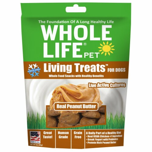 Whole Life Pet  Living Treats™ for Dogs   Real Peanut Butter Perspective: front