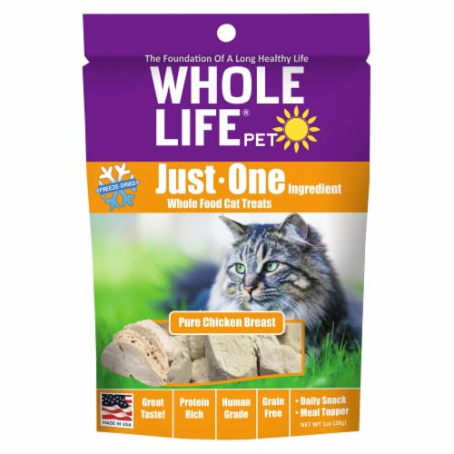 Whole Life Pet  Just One Ingredient Whole Food Cat Treats   Pure Chicken Breast Perspective: front